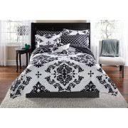 Comforter At Walmart Mainstays Yellow Grey Chevron Bed In A Bag Bedding Comforter Set