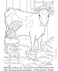 farm animal coloring page cow to print and color kids farm