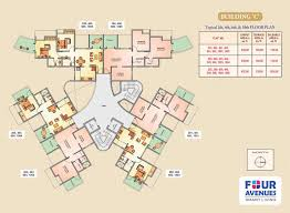 floor plans four avenues 1bhk and 2bhk flats in loni kalbhor near