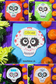 day of the dead skulls with paper plates box of ideas