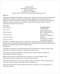Apprentice Electrician Resume Samples by 10 Electrician Resume Templates Free Sample Example Format