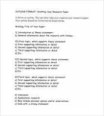 5 research outline templates u2013 free word pdf documents download
