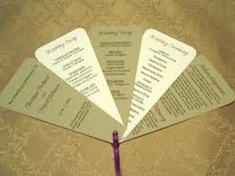 fan wedding program choosing the fan style of your wedding programs