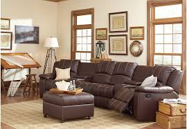Sectional Sofas Rooms To Go by San Angelo Brown 6 Pc Sectional Living Room Living Room Sets Brown