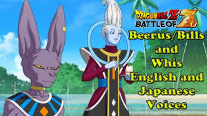 japanese quote character beerus bills whis english japanese voices dragon ball z