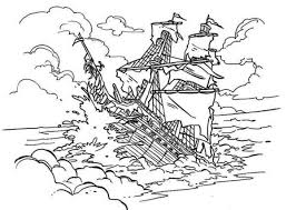 10 images pirates caribbean ship coloring pages