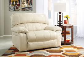 Comfortable Single Couch Damacio Cream Zero Wall Wide Seat Recliner From Ashley U9820152