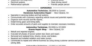 Sample Resume For Auto Mechanic by Resume Templates For Auto Mechanic Auto Mechanic Resume Templates