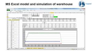 Warehouse Floor Plan Software by Ms Excel And Simulation Of Warehouse Youtube