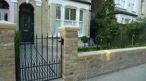 Garden Wall Railings by Multi London Garden Design Victorian Front Company Walls Red Brick