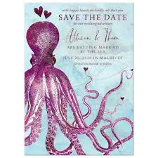 nautical save the date save the date cards nautical vintage octopus hearts