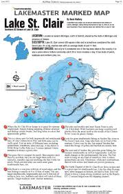 lake st clair lake st lake st clair marked map midwest outdoors