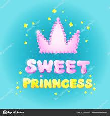 invitation card cartoon design sweet princess birthday greeting card vector illustration cartoon