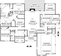 one story floor plans with two master suites one story house plans 2 master suites homeca