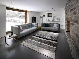 salon canapé gris salon avec canapés gris