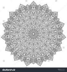 mandala ornament c black white stock vector 460519996