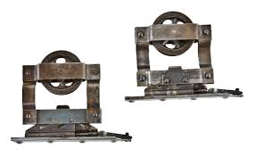 Richard Wilcox Barn Door Hardware by Matching Set Of All Original And Completely Intact C 1900 U0027s
