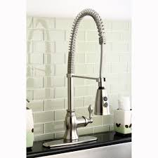 classic kitchen faucets american classic modern satin nickel spiral pull kitchen