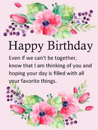 Happy Birthday Wish Thinking Of You Flower Happy Birthday Wishes Card Birthday