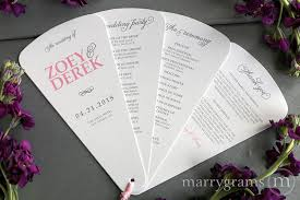 wedding reception program sle 4 blade petal program fan curly style wedding ceremony programs
