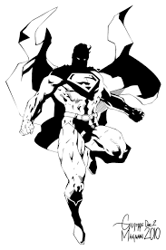 jim lee u0027s superman inks by bongiuovi on deviantart