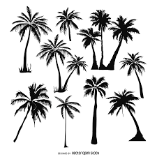 palm tree svg 9 flat green trees vector download