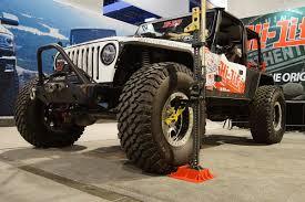 jeep jeepster lifted 2016 sema hi lift jeep tj wrangler