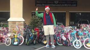 business owner camps on top dealership collects 1 500 bikes for