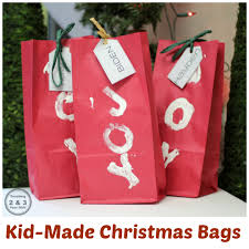 christmas wrap bags how kids can make gift wrap using paper bags