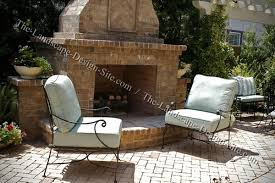 brick patio fireplace ideas