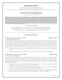 resume sample for teacher assistant gallery creawizard com