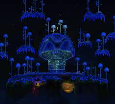 making a mushroom house a mushroom home terraria