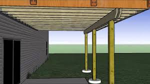 cantilevered deck 14 x20 deck with corner arbor sketchup animation youtube