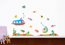 large wall stickers for kids home design ideas full size of giant color underwater voyage wall decal decor design idea teens room decorations and