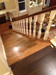is it to different wooden flooring upstairs from