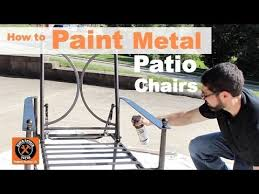 How To Clean Cast Aluminum Patio Furniture How To Paint Metal Patio Chairs By Home Repair Tutor Youtube