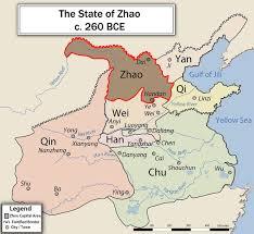 Ancient China Map Zhao State Wikipedia