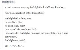 japanese translation u0027rudolph red nosed reindeer u0027