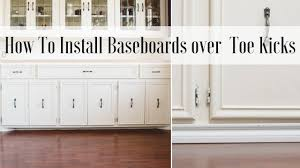 kitchen cabinet baseboards how to install baseboard toe kick