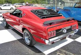 1969 mustang rear mustang mach i drivers side rear view