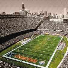 soldier field chicago bears gallery wrapped canvas print zoom