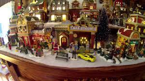 beautiful fireplace mantle christmas village youtube