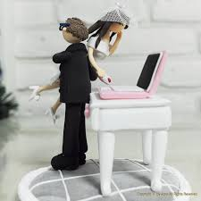 piano cake topper computer themed wedding cake toppers the wedding specialiststhe