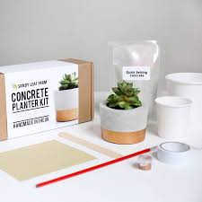 concrete planter making kit by sandy leaf farm