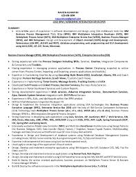 business process management resume top 8 business process manager