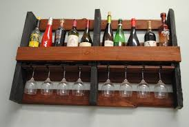hand crafted wall mounted pallet wine rack by shigamasham customs