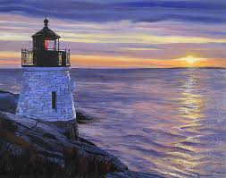 Rhode Island landscapes images Castle hill lighthouse newport rhode island painting by christine jpg
