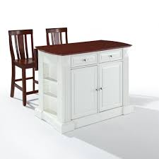white kitchen island butcher block modern kitchen island design
