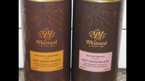 chocolate wine review whittard of chelsea hot chocolate salted caramel flavour rocky