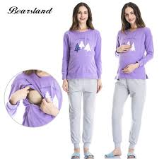maternity nursing bearsland women s maternity nursing pajamas set 2 pcs